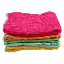 ODN 5pcs Microfasertuch Reinigungstücher für Haushalt, Küche, Bad, Auto Abwaschtuch (Bunt)