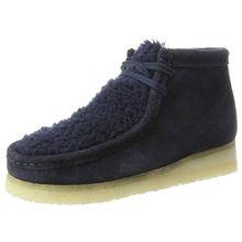 Clarks Originals Damen Wallabee Boot. Stiefel, Blau (Navy Suede), 37.5 EU
