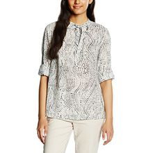 Liebeskind Berlin Damen Regular Fit Bluse F2162156 Cotton Voile Printed, Gr. 34, Weiß (alabasta White 0697)