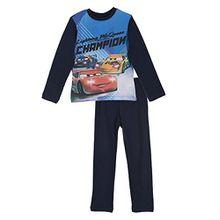 Disney Cars Lightning McQueen Kinder Langes Pyjamas / Nachtwäsche (Marineblau , 3 Jahre)