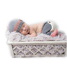 Hand stricken Neugeboren Junge Mädchen Outfits Baby Fotografie Requisiten Häkeln Hüte Hose