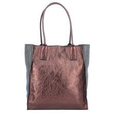 Caterina Lucchi Shopper Tasche Leder 29 cm anthrazit / bordeaux