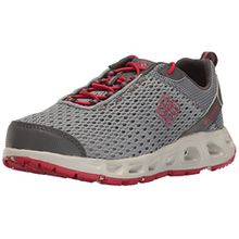 Columbia Jungen Youth Drainmaker Iii Trekking-& Wanderhalbschuhe, Grau (Grey Ash, Mountain Red 021), 32 EU