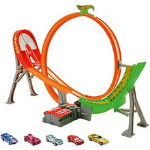 Hot Wheels Power Shift motorisierte Rennstrecke mit Looping