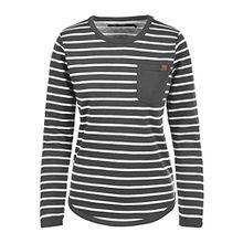 Blend She Christin Damen Sweatshirt Pullover Sweater Mit Rundhalsausschnitt Und Fleece-Innenseite, Größe:XL, Farbe:Charcoal (70818)