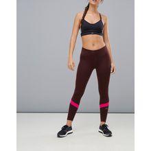 adidas Running - How We Do - Leggings in Burgunder mit Farbblockdesign - Rot