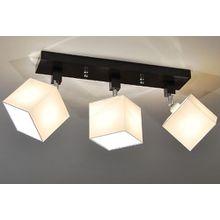 Designer Decken Leuchte Lampe Retro Spot Strahler Salon Bar Theke E27 Power LED Bern 16 (Sockelfarbe: Wenge)
