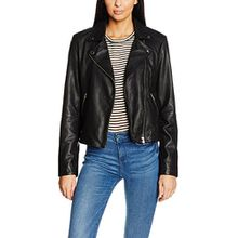 SELECTED FEMME Damen Jacke Sfmarlen Leather Jacket Noos, Schwarz (Black), 40