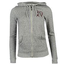 Roxy Basic Damen Zip Kapuzenpullover Hoody Sweatjacke Hoodie Kapuzenjacke Grau Heather 10 (S)