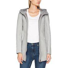 TOM TAILOR Damen Sweatshirt Outdoor Sweat Jacket, Grau (Light Silver Melange 2051), 42 (Herstellergröße: XL)