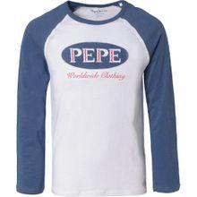Pepe Jeans Shirt 'Colter' blaumeliert / weiß