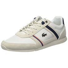 Lacoste Herren Menerva 118 1 Cam Sneaker, Weiß (Off WHT/Nvy), 42 EU