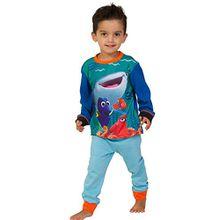 ThePyjamaFactory Jungen Schlafanzug blau blau Gr. 3-4 Jahre, blau