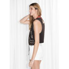 TOMS Pearl Embroidered Vest - Brown