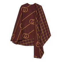 Cape-Mantel aus Wolle mit GG