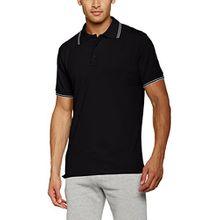 James & Nicholson Herren Poloshirt Men´s Polo, Schwarz (Black/White), X-Large