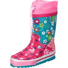 BECK Gummistiefel himmelblau / pink / dunkelpink