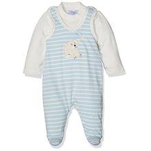 Sterntaler Baby-Jungen Strampler-Set Jersey Hardy, Blau (Bleu 313), 56