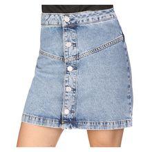 Calvin Klein Jeans Rock Button Front Tape W Röcke blau Damen