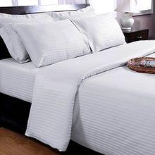Homescapes 2 teilige Damast Bettwäsche 135x200 cm weiß 100% reine ägyptische Baumwolle Fadendichte 330