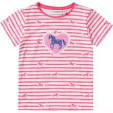 SALT AND PEPPER T-Shirt 'Pferd' blau / pink / weiß