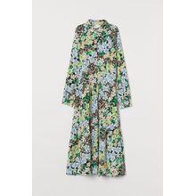 H & M - Kleid mit Kragen - Schwarz - Damen