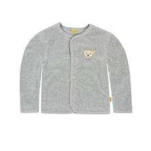Steiff Unisex - Baby Jacke 1/1 Arm, Einfarbig, Gr. 68, Grau Softgrey Melange Gray 8200