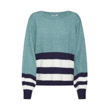 Mbym Pullover 'Kadie' navy / himmelblau / weiß