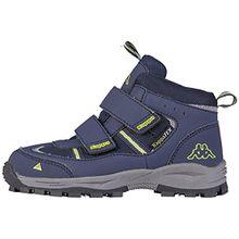 Kappa Action Tex T Footwear Teens, Unisex-Kinder Boots, Blau (6733 Navy/Lime), 36 EU