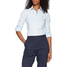 GANT Damen Bluse Stretch Oxford Solid Shirt, Blau (Light Blue 455), 36