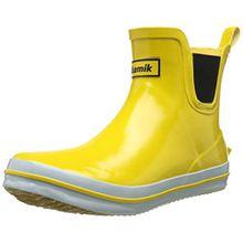 Kamik SHARONLO Damen Kurzschaft Gummistiefel, Gelb (YEL-Yellow), 39 EU (6 UK)