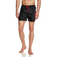 Skiny Herren Badeshorts Basic Instinct Men Hr. Aqua Shorts, Einfarbig, Gr. Medium, Schwarz (BLACK 8596)