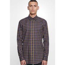 Seidensticker Business Hemd Modern Langarm Button-Down-Kragen Karo Langarmhemden gelb Herren