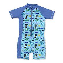 Sterntaler Jungen Badehose Schwimmanzug, Blau (Aquamarin 427), 116