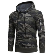 Herren Pullover, FEITONG Männer Langarmshirt Sweatshirt Tops Jacken Mantel Outwear (2XL, Camouflage)