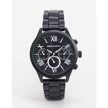 ASOS DESIGN – Uhr in Schwarz mit austauschbaren Armbändern, zum Verschenken