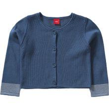 S.Oliver Junior Baby Strickjacke für Mädchen REG blau / weiß