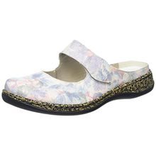 Rieker 46394 Women Clogs, Damen Clogs, Mehrfarbig (blau-multi/90), 40 EU