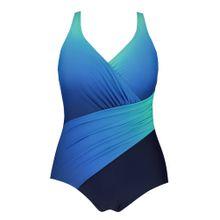 Ulla Popken Badeanzug blau