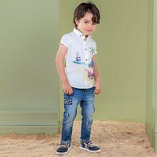 Jeans Loose Fit mit Patches im Used Look  blue denim Jungen Kleinkinder