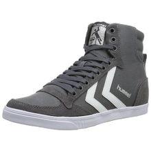 Hummel SLIMMER STADIL HIGH, Unisex-Erwachsene Hohe Sneakers, Grau (Castle Rock/White KH), 36 EU (3.5 Erwachsene UK)