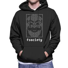 Fsociety Binary Code Mr Robot Men's Hooded Sweatshirt