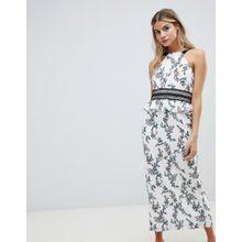 Stylestalker - Kaylene - Maxikleid mit Blumenmuster - Weiß