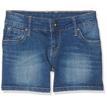 Pepe Jeans Mädchen Foxtail Badeshorts, Blau (Denim), 12 Jahre (Herstellergröße: 12)