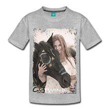 Spreadshirt OSTWIND Aufbruch Nach Ora Mika Und Ostwind Foto Kinder Premium T-Shirt, 122/128 (6 Jahre), Grau meliert