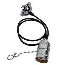 E26 Deckenlampe Haengelampe Haengeleuchten Rosen-Anhaenger mit geflochtenen Antique Seil plstik+Metall silber