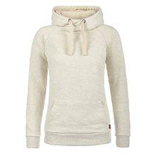 Blend She Julia Damen Damen Hoodie Kapuzenpullover Pullover Mit Kapuze Und Cross-Over-Kragen, Größe:S, Farbe:Sand Mix (70810)