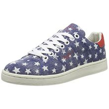 Pepe Jeans London Club Stars, Damen Sneakers, Blau (576WASHED Navy), 39 EU