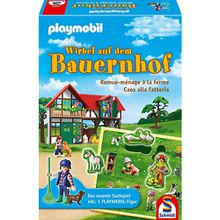 Playmobil Puzzle-Duell Spiel inkl. Playmobil-Figur, Wirbel auf dem Bauernhof