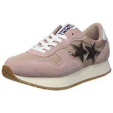 Hilfiger Denim Damen Tommy Jeans Star Sneaker, Pink (Mahogany Rose 634), 37 EU